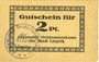 Banknoten Liegnitz (Legnica, Pologne), Allgemeine Ortskrankenkasse, billet, 2 pf, carton chamois