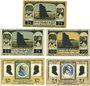 Banknoten Lilienthal, Sparkasse, billets, 25 pf 31.3.1921, 25, 50 pf 15.4.1921, 50, 75 pf 15.5.1921
