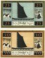 Banknoten Lilienthal, Sparkasse, série de 2 billets, 25 pf, 50 pf 1.3.1921, série D
