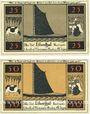 Banknoten Lilienthal, Sparkasse, série de 2 billets, 25 pf, 50 pf 2.1.1921, série A