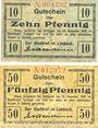 Banknoten Limbach, Stadt, billets, 10 pf, 50 pf n.d. - 31.12.1918