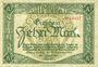 Banknoten Limburg a. d. Lahn, Stadt, billet, 10 mark 20.11.1918, annulation par perforation