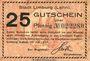 Banknoten Limburg a. d. Lahn, Stadt, billet, 25 pf 20.7.1917