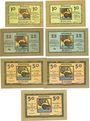 Banknoten Lindau i. B., Stadt, billets, 10 pf (2ex), 25 pf (2ex), 50 pf (3ex) n.d. - 1.10.1919