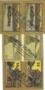 Banknoten Lindau i. B., Stadt, billets, 5 mark, 10 mark, 25 mark n.d. - 30.11.1918, annulation par perforation