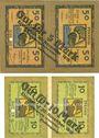 Banknoten Lindau i. B., Stadt, billets, 5 mark, 10 mark n.d. - 30.11.1918, annulation par perforation