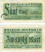 Banknoten Lindau und Weiler, Distriktsgemeinde, billets, 5 mark, 20 mark 10.10.1918