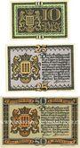 Banknoten Lingen, Stadt, billets, 10 pf n.d., 25 pf, 50 pf 1.4.1921