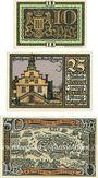 Banknoten Lingen. Stadt. Billets. 10 pf n.d., 25 pf, 50 pf 1.4.1921
