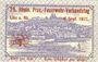 Banknoten Linz am Rhein, Stadt, billet, 25 pf 1.7.1920, avec surimpression au rev : 25. Rhein Prov.-Feuerwehr
