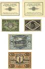 Banknoten Löbau, Amtshauptmannschaft, billets, 10 pf (2ex) 1918, 5, 10, 25 50 pf n.d; - 30.6.1921