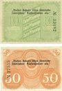 Banknoten Löbau, Stadt, billets, 10 pf, 50 pf n.d. - 31.12.1918
