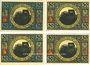Banknoten Lobeda, Stadt, billets, 50 pf  (4ex) 1921