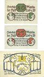 Banknoten Lorch, Stadt, série de 3 billets, 10 pf, 25 pf, 50  pf 20.8.1920.