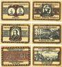 Banknoten Lörrach, Stadt, série de 6 billets, 50 pf (1922) (6 ex)