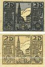 Banknoten Osterhofen. Stadt. Billets. 25 pfennig (2 ex) 27.1.1917