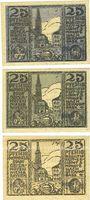 Banknoten Osterhofen. Stadt.  Billets. 25 pfennig (3 ex) 27.1.1917