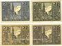 Banknoten Osterhofen, Stadt, billets, 25 pfennig (4 ex) 27.1.1917