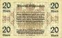 Banknoten Ostpreußen (Pologne, Russie, Lituanie), Provinzialverband, billet, 20 mark 10.12.1918