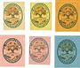 Banknoten Salzburghofen, Gemeinde, billets, 1 pf, 2 pf, 5 pf, 10 pf (2ex), 20 pf 1920