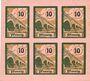 Banknoten Salzburghofen, Gemeinde, billets, 6 x 10 pf 1920