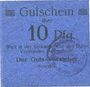 Banknoten Siemianowitz (Siemanowice, Pologne), Georgshütte, billet, 10 pf n.d., avec cachet violet