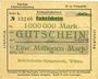 Banknoten Witten, Chemins de fer, Travaux généraux, billet, 1 million mark 10.08.1923 série Zc
