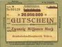 Banknoten Witten, Chemins de fer, Travaux généraux, billet, 20 millions mark 10.08.1923 série K