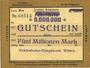 Banknoten Witten, Chemins de fer, Travaux généraux, billet, 5 millions mark 10.08.1923 série Pc