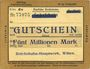 Banknoten Witten, Chemins de fer, Travaux généraux, billet, 5 millions mark 10.08.1923 série Zc