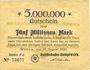 Banknoten Witten, Reichsbahn-Hauptwerk, billet, 5 millions mark 10.8.1923