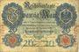 Banknoten Allemagne. Billet. 20 mark 10.9.1909,  série D