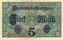 Banknoten Allemagne. Billet. 5 mark 1.8.1917, série V