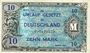Banknoten Allemagne, sous occupation des forces alliées. Billet. 10 mark 1944