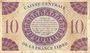 Banknoten Afrique Equatoriale Française Caisse Centrale de la France Libre billet 10 F 2.12.1941, Brazzaville