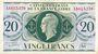 Banknoten Afrique Equatoriale Française Caisse Centrale de la France Libre billet 20 F(27 oct. 44) Brazzaville