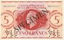 Banknoten Afrique Equatoriale Française Caisse Centrale de la France Libre. Billet 5 francs type 1941 SPECIMEN
