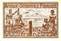 Banknoten Afrique Occidentale Française. Gouvernement provisoire. Billet. 1 franc 1944