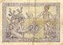 Banknoten Algérie. Banque d'Algérie. Billet. 20 francs 2.2.1945