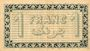 Banknoten Algérie. Chambre de Commerce d'Alger. Billet. 1 franc 3.9.1914, bleu