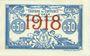 Banknoten Algérie. Chambre de Commerce d'Oran. Billet. 50 cmes 10.11.1915 surchargé 1918