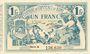Banknoten Algérie. Chambre de Commerce de Bône. Billet. 1 franc 18.5.1915