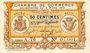 Banknoten Algérie. Chambre de Commerce de Bougie-Sétif. Billet. 50 cmes 9.3.1918