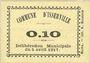 Banknoten Algérie. Commune d'Isserville. Billet. 10 cmes 5.4.1917
