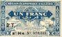 Banknoten Algérie. Région Economique d'Algérie. Billet. 1 franc 31.1.1944, 2e émission