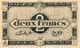 Banknoten Algérie. Région Economique d'Algérie. Billet. 2 francs 31.1.1944, 2e émission