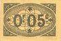 Banknoten Algérie. Ville d'Alger. Billet. 5 centimes 9.3.1917