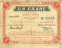 Banknoten Tunisie. Régence de Tunis. Billet. 1 franc, 4e émission, 30.9.1918