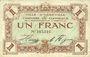 Banknoten Abbeville (80). Ville et Chambre de Commerce. Billet. 1 franc