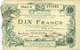 Banknoten Aisne, Ardennes et Marne - Bon régional. Hirson. Billet. 10 francs 12.12.1917, série 4